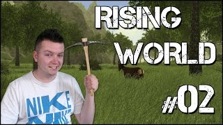 Rising World #02 - NIEDŹWIEDŹ ATAKUJE! | [Minecraft & The Forest]