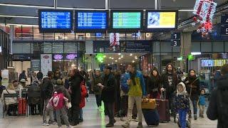 23rd day of transport strike in France, images from Gare Montparnasse station | AFP