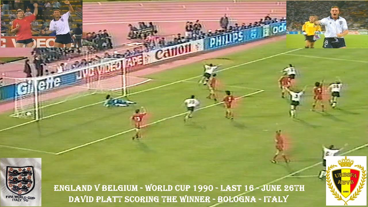 England V Belgium World Cup 1990 David Platt S Goal 26th June Bolgna Italy Youtube