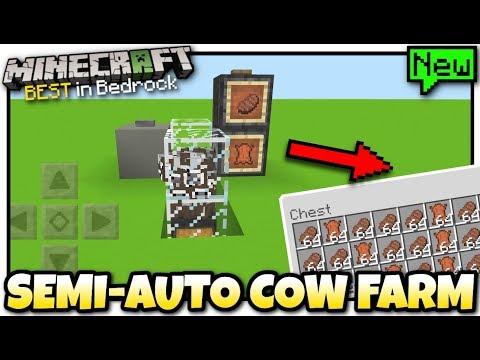 Minecraft - EASY COW FARM ( Automatic )[ Tutorial ] MCPE - Bedrock / Xbox / Switch