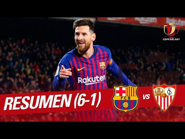 Resumen de FC Barcelona vs Sevilla FC (6-1)