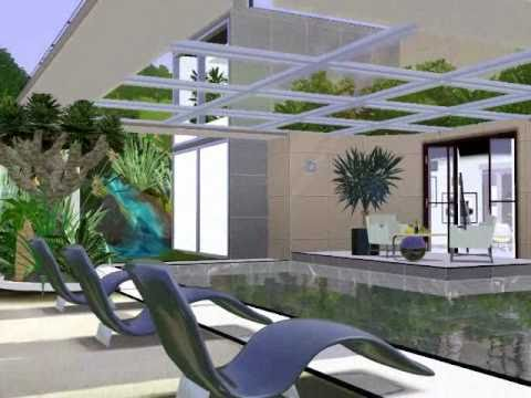 California modern house - The Sims 3 - YouTube