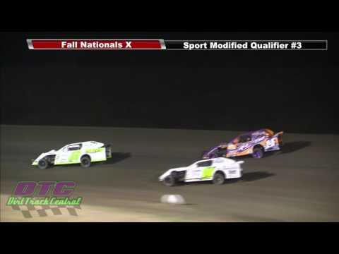 IMCA Sport Mod Qualifiers Fall Nationals RPM Speedway 10 7 16