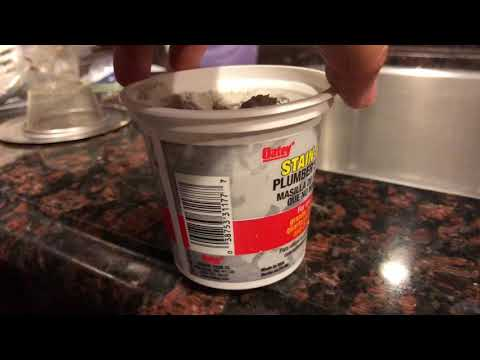 How to use plumber's putty to seal kitchen sink drain assembly