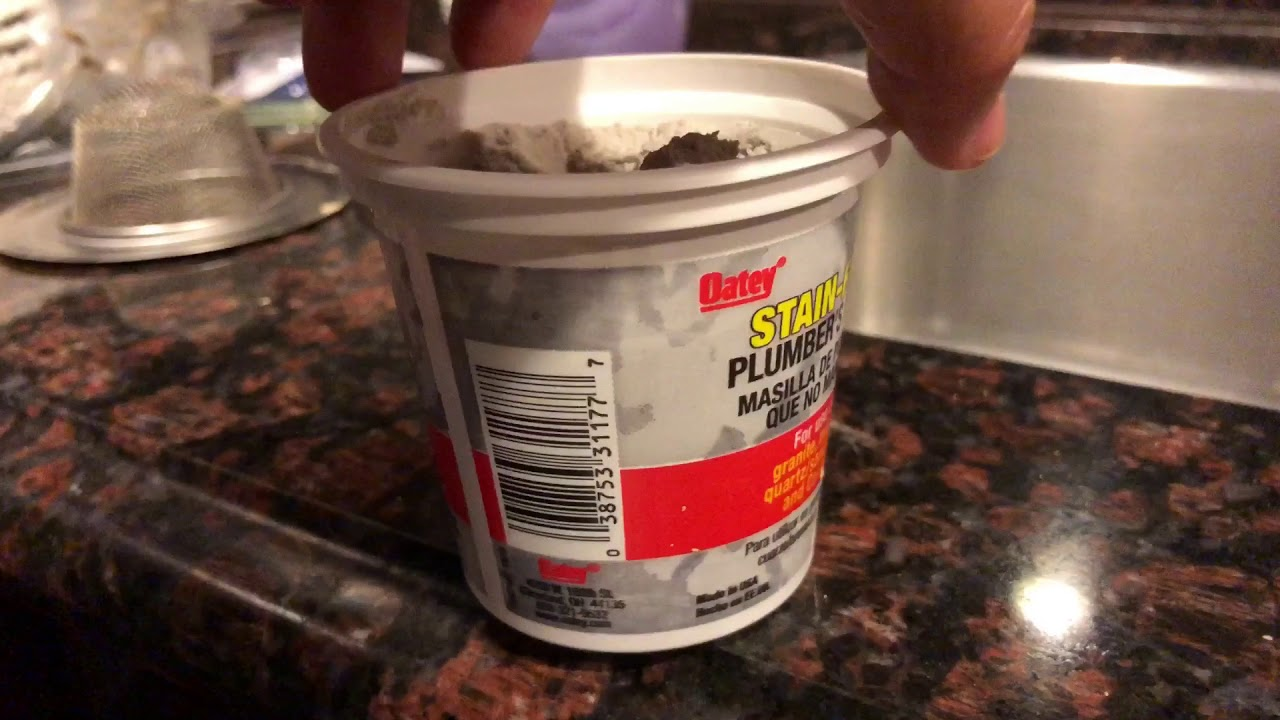 How to use plumber\'s putty to seal kitchen sink drain assembly - YouTube