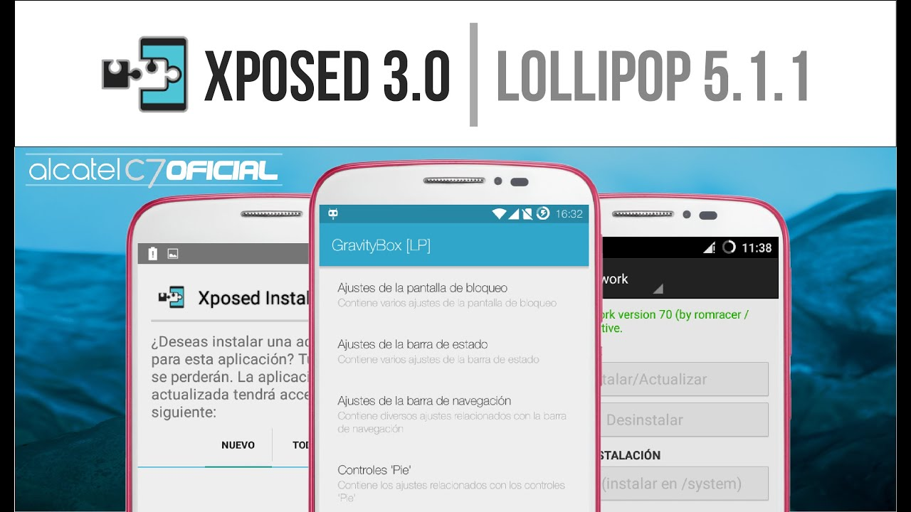 Xposed Framework 3 0 Android Lollipop 5 1 1 Cm12 1 Youtube