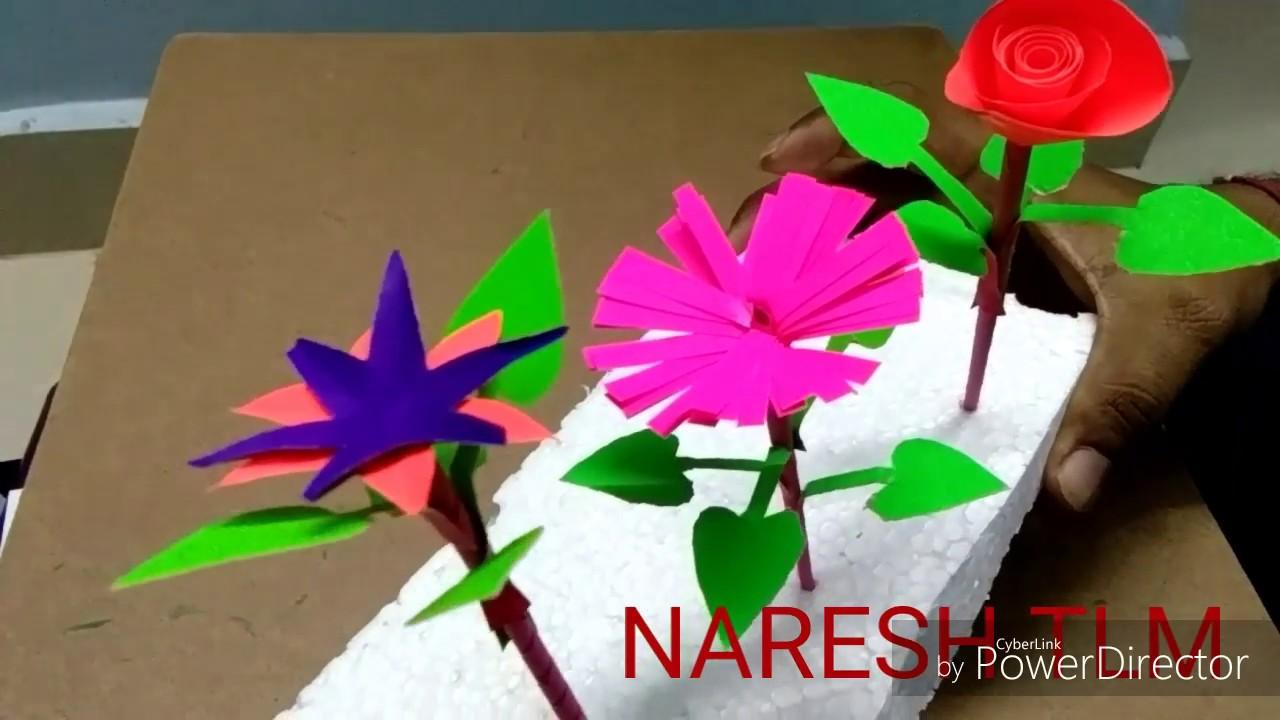5th class telugu lesson Maathota TLM, Easy TLM, paper flower