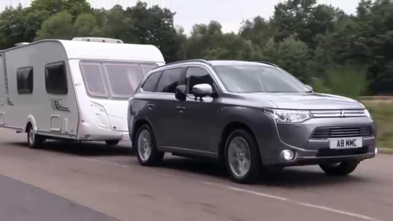 Practical Caravan Reviews The Mitsubishi Outlander Phev Gx4hs Youtube