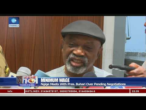 Ngige Meets With Pres. Buhari Over Pending Negotiations On Minimum Wage