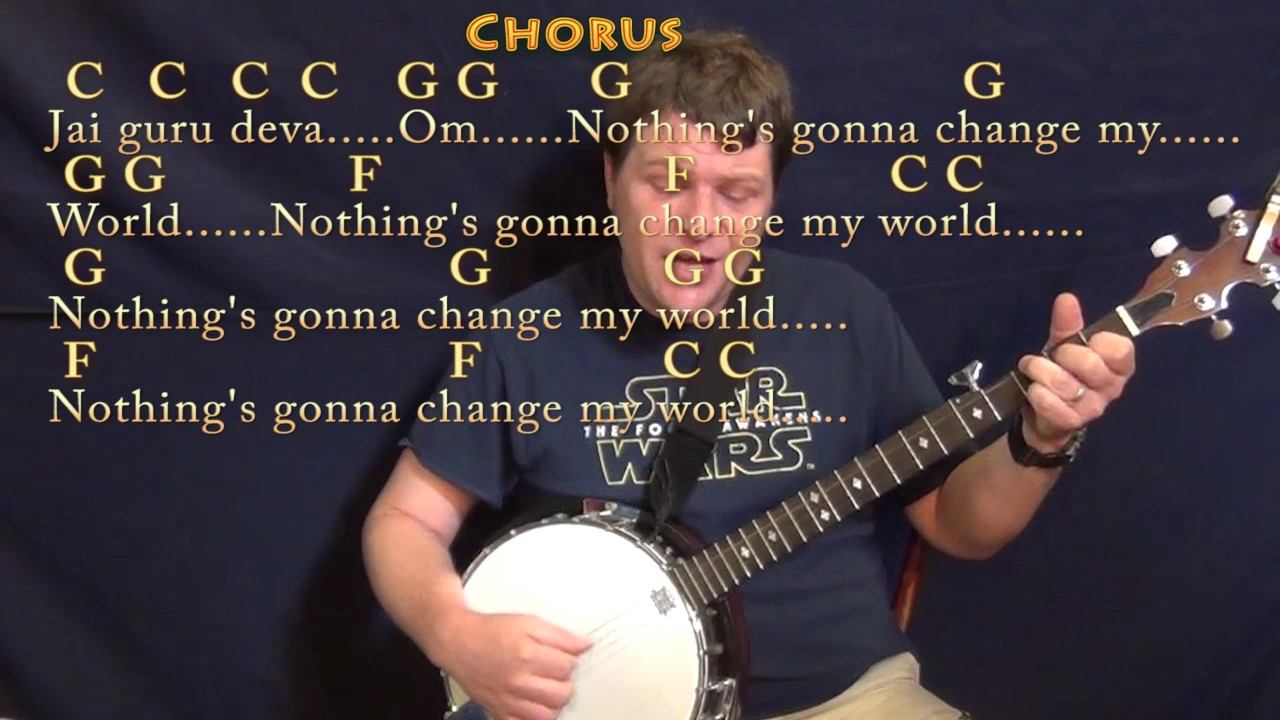 Across the universe the beatles banjo cover lesson in c with across the universe the beatles banjo cover lesson in c with chordslyrics hexwebz Images