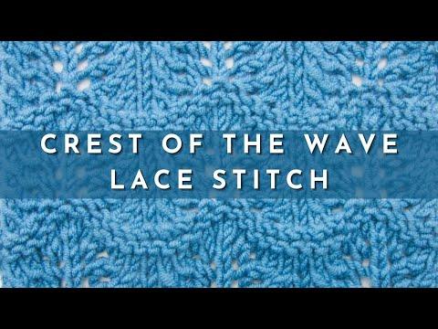 Really Easy Knitting Patterns : Knit Pattern * VERY EASY LACE STITCH * FunnyDog.TV