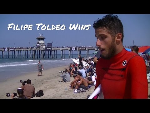 Filipe Toledo Wins US Open of Surfing Quarter-Finals