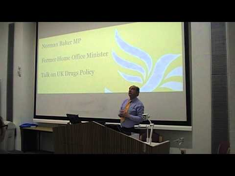 Norman Baker MP drugs policy talk