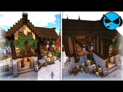 minecraft:-how-to-build-a-storage-warehouse-(minecraft-village-tutorial)