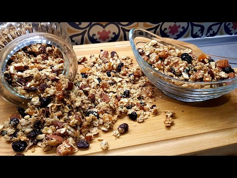 granola-maison-recette-facile-et-saine-|-جرانولا-الشوفان-وصفة-صحية