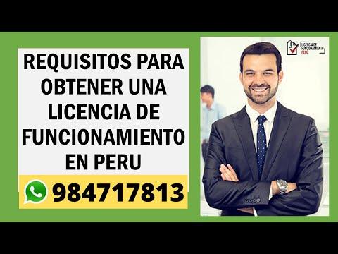 Requisitos para obtener una  licencia de Funcionamiento - Perú