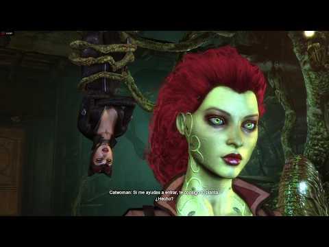 Batman: Arkham city: Catwoman ayudando a Batman
