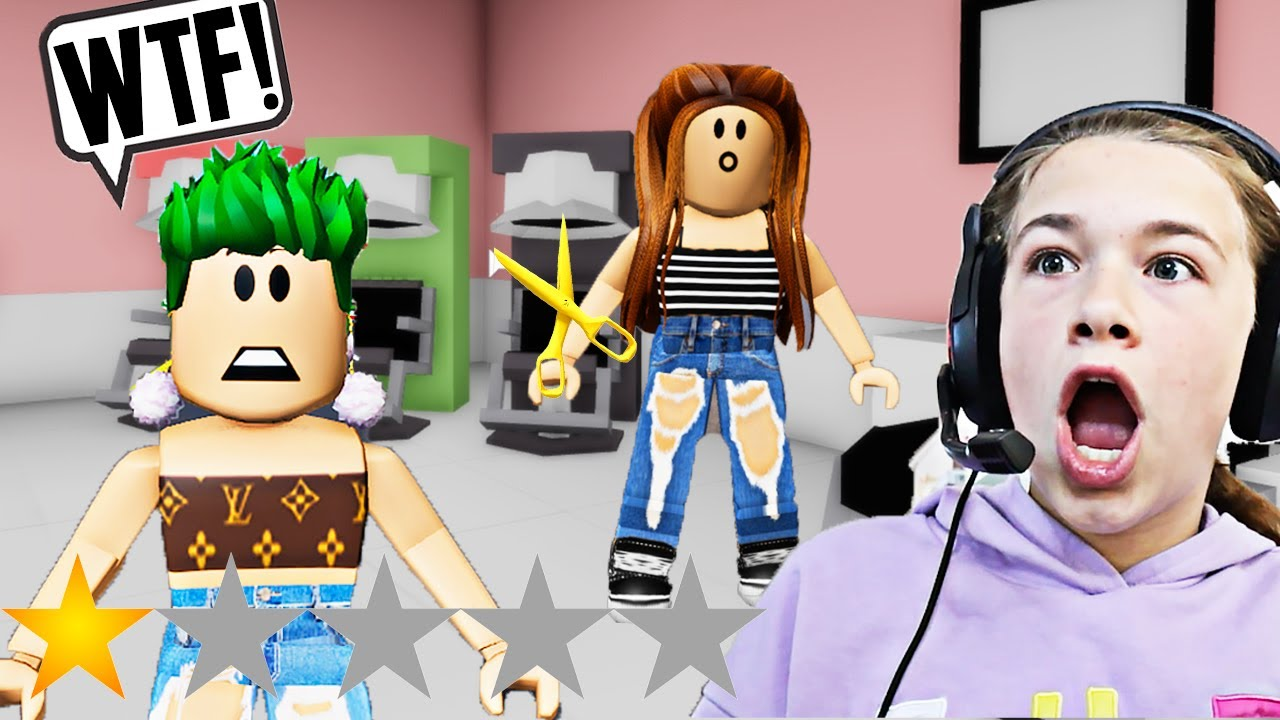 WORST BEAUTY SALON!! **BROOKHAVEN ROLEPLAY**   JKREW GAMING