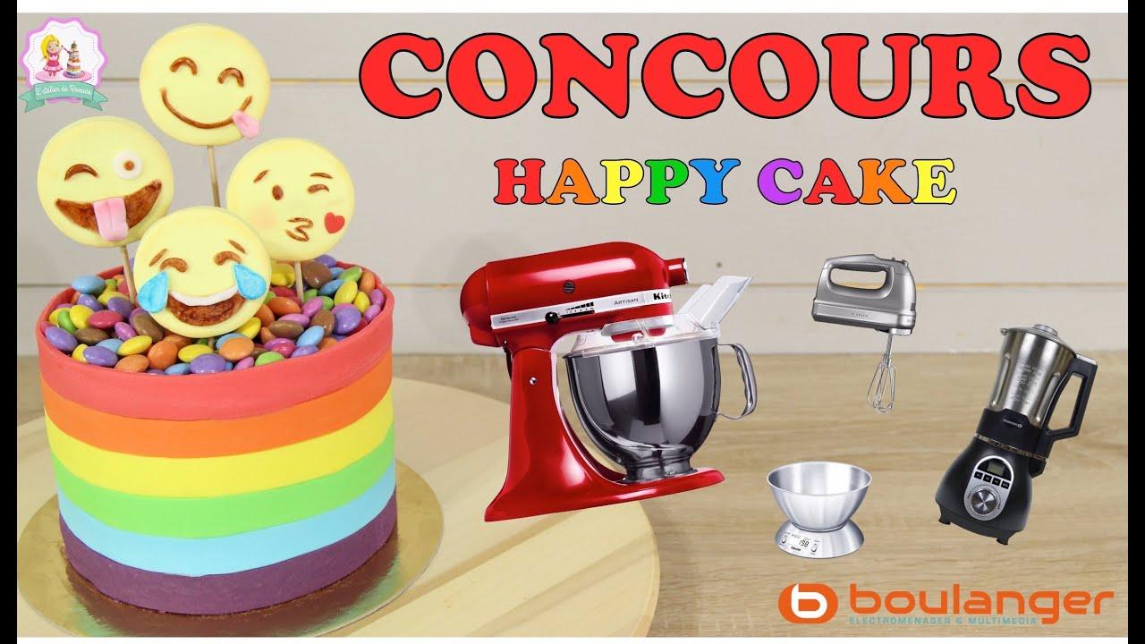 Concours Happy Cake Boulanger Gâteau Emoji Pate A Sucre Cake