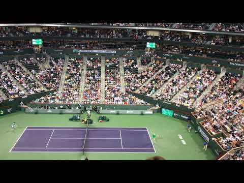 (MUST WATCH COMPILATION) Court/Stadium View for Various Match Points from 2017-2019 Indian Wells!