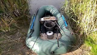 Поплавочная удочка. Рыбалка летом на реке. Орель, июль 2017