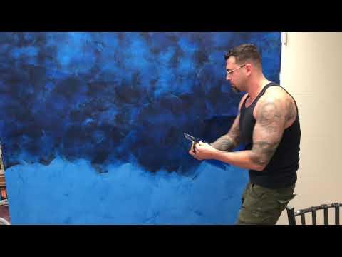 Venetian plaster 2 tone application