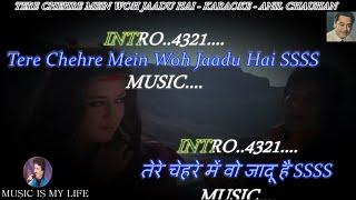 Tere Chehre Mein Woh Jaadu Hai Karaoke Scrolling Lyrics Eng. & हिंदी