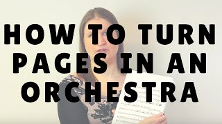 How to Turn Pages in an Orchestra | Violin Lounge TV #236