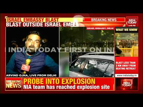 Israel Embassy Blast: CRPF Team Reaches Blast Spot, CCTV Footage Being Examined | Ground Report