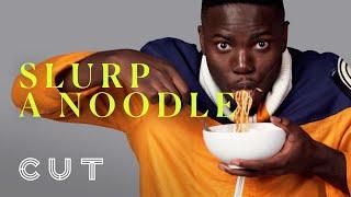 100 People Slurp a Noodle   Keep It 100   Cut