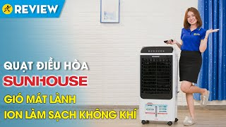 Quạt điều hòa Sunhouse: tự động ngắt bơm khi hết nước (SHD7727) • Điện máy XANH