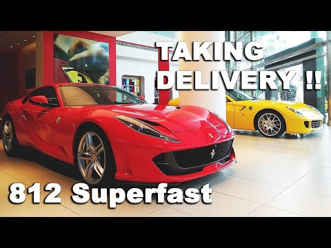 Taking Delivery of Ferrari 812 Superfast + drive through streets