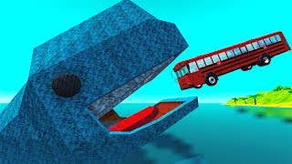 Jumping In Whales High Speed Car Jumps #7 BeamNG drive