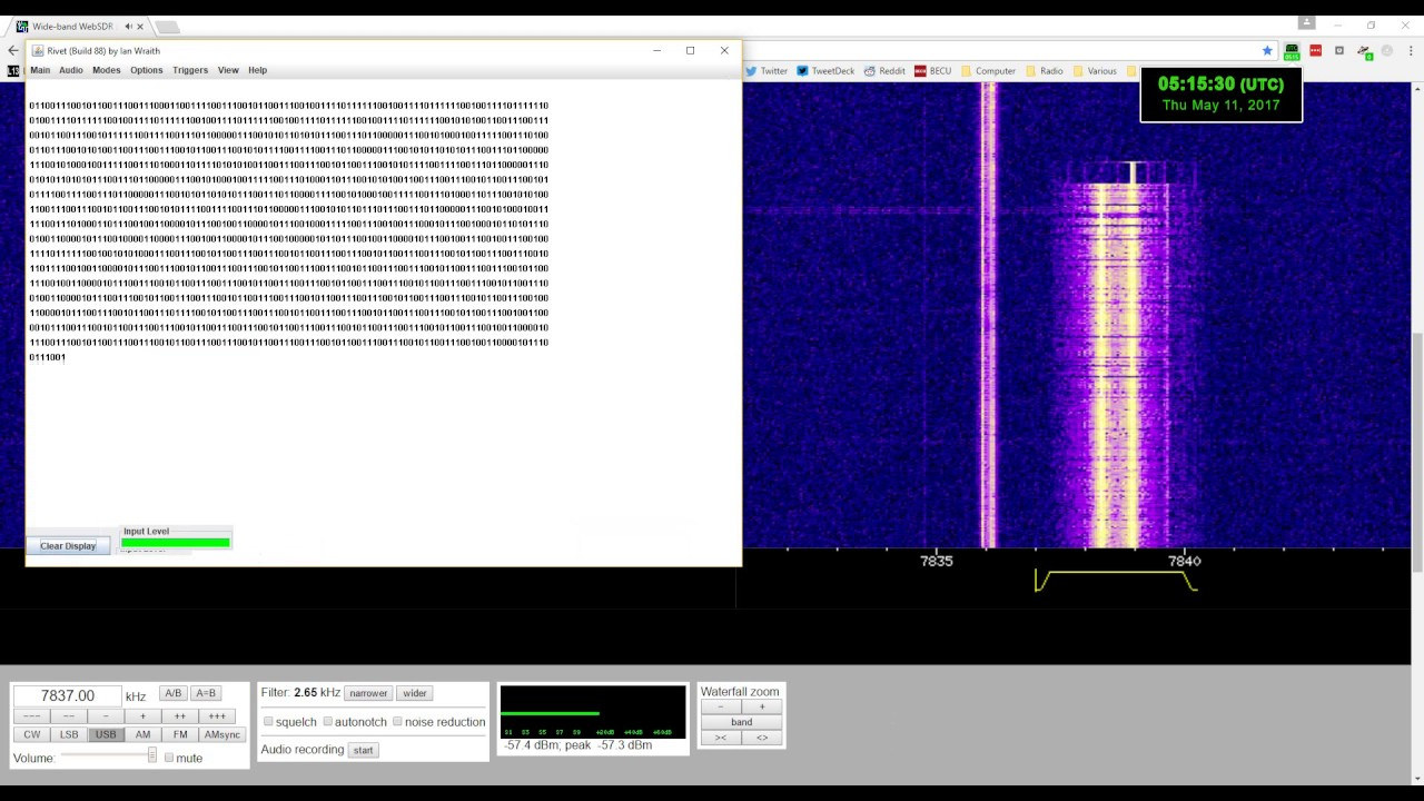 Polish F11 number station FSK decode at 7837 kHz