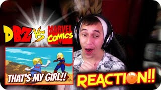 DRAGON BALL VS MARVEL?!| LET'S WATCH Android 18 VS Captain Marvel DEATH BATTLE REACTION!!