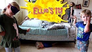 Ellie's IT! Hide & Seek BLINDFOLDED in Ellie's Room! / The Beach House