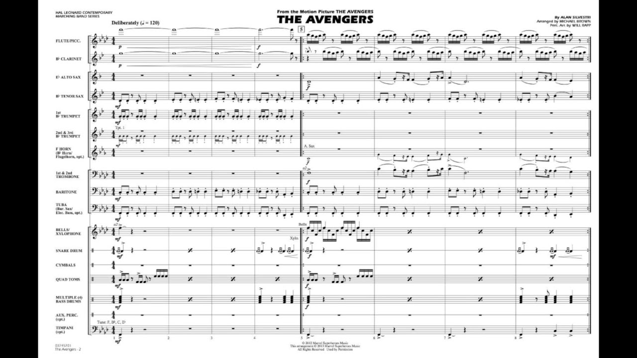 The Avengers by Alan Silvestri/arr  Brown & Rapp