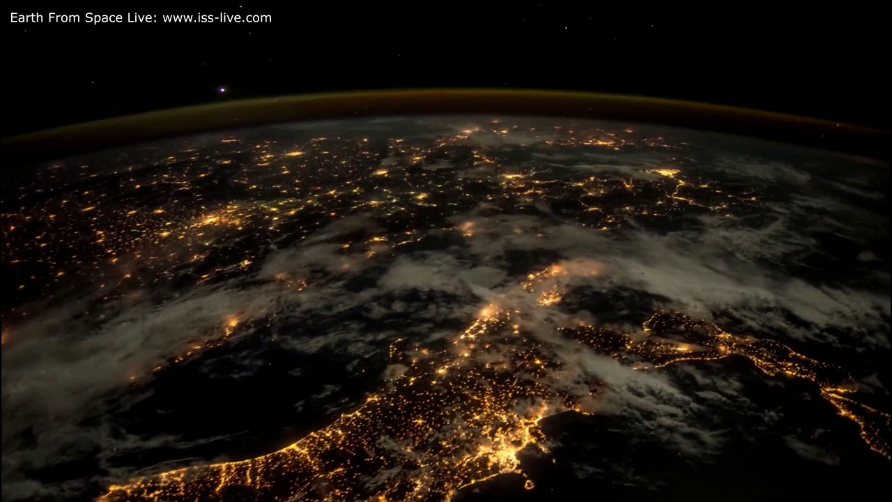 4k Time Lapse Video Earth By Night Earth From Space Music Elgar Nimrod Youtube