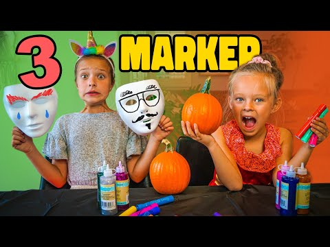 3 MARKER MAKE YOUR OWN HALLOWEEN COSTUME CHALLENGE!