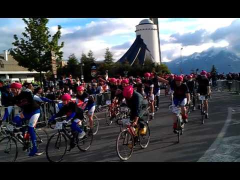 Intocht Big Challenge op Alpe d'Huez