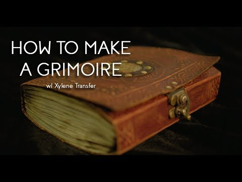 How-To Do A Xylene Transfer On A CUSTOM GRIMOIRE!