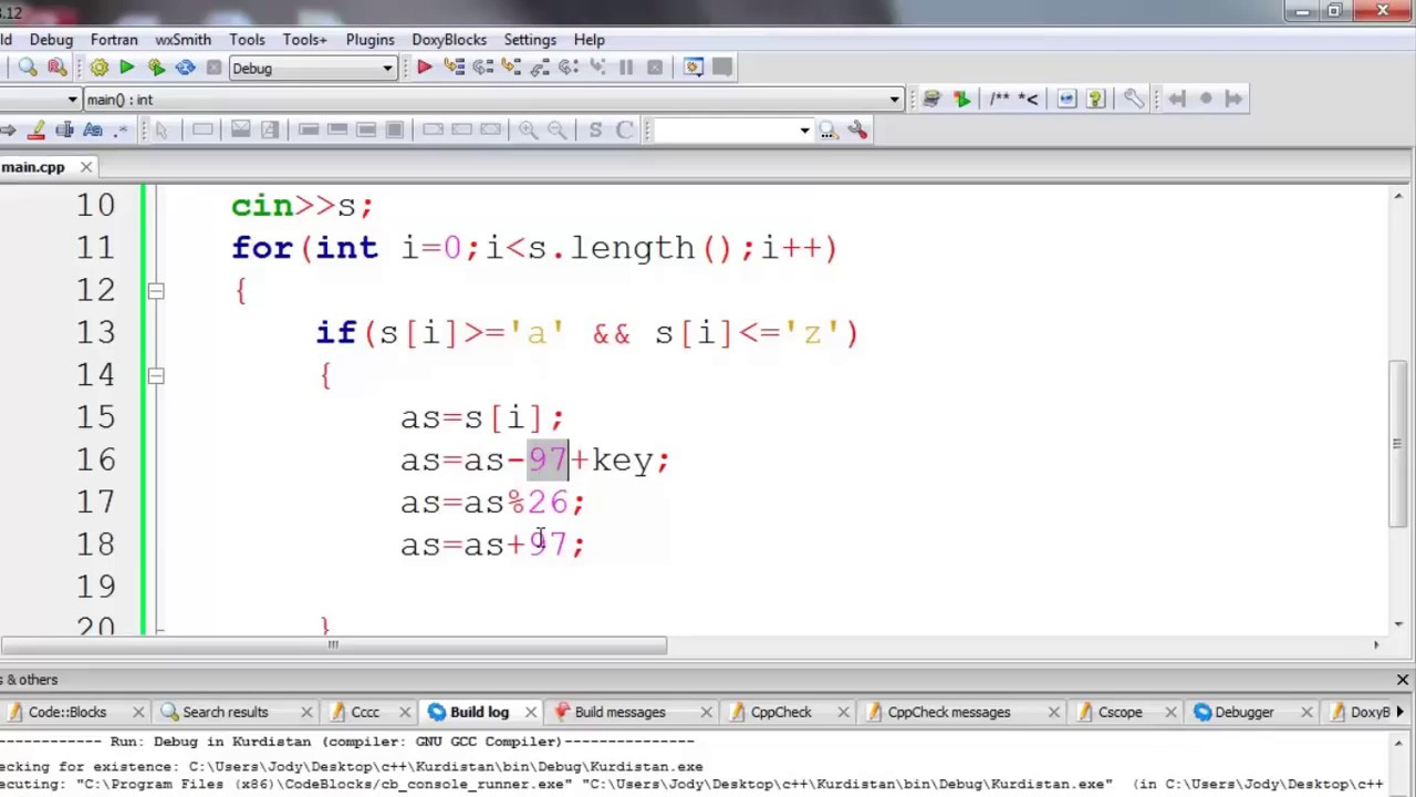 13 Caesar Cipher Encryption and Decryption in c++ in Kurdish, Lecture No 13