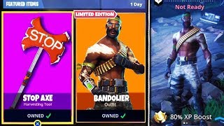 FORTNITE BATTLE ROYALE #41 NEW BANDOILER SKIN AND STOP AXE PICKAXE