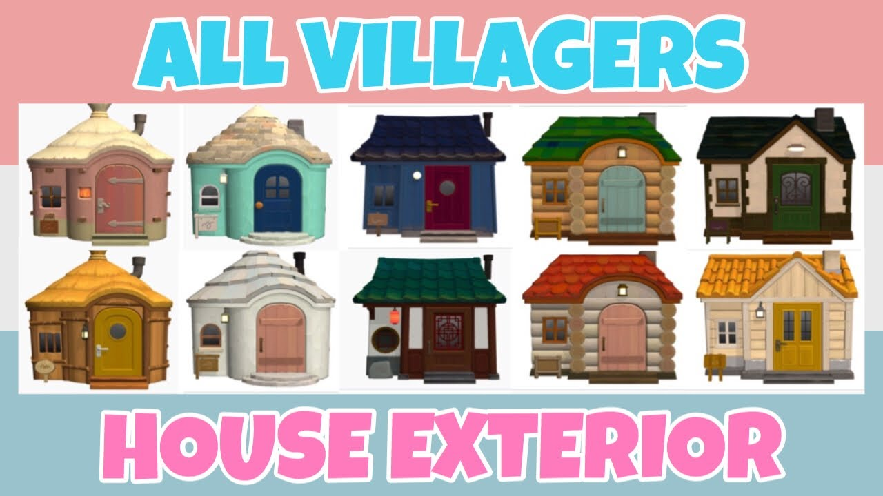 All 300 Villager House Exterior Designs Showcase Animal Crossing New Horizons Youtube