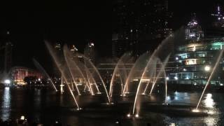 Beautiful fountain show in Dubai Mall