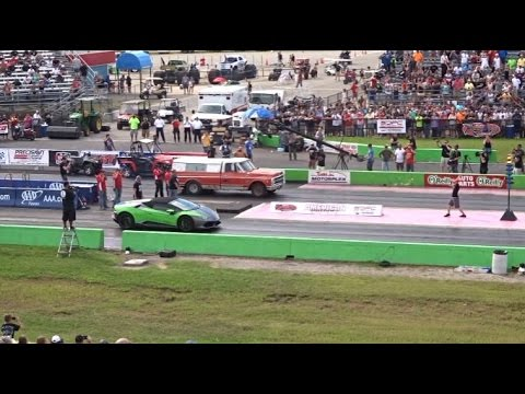 Lamborghini Vs Farm Truck Drag Race Street Outlaws