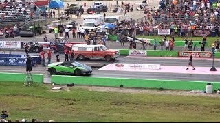 Lamborghini vs FARM TRUCK DRAG RACE ( STREET OUTLAWS )
