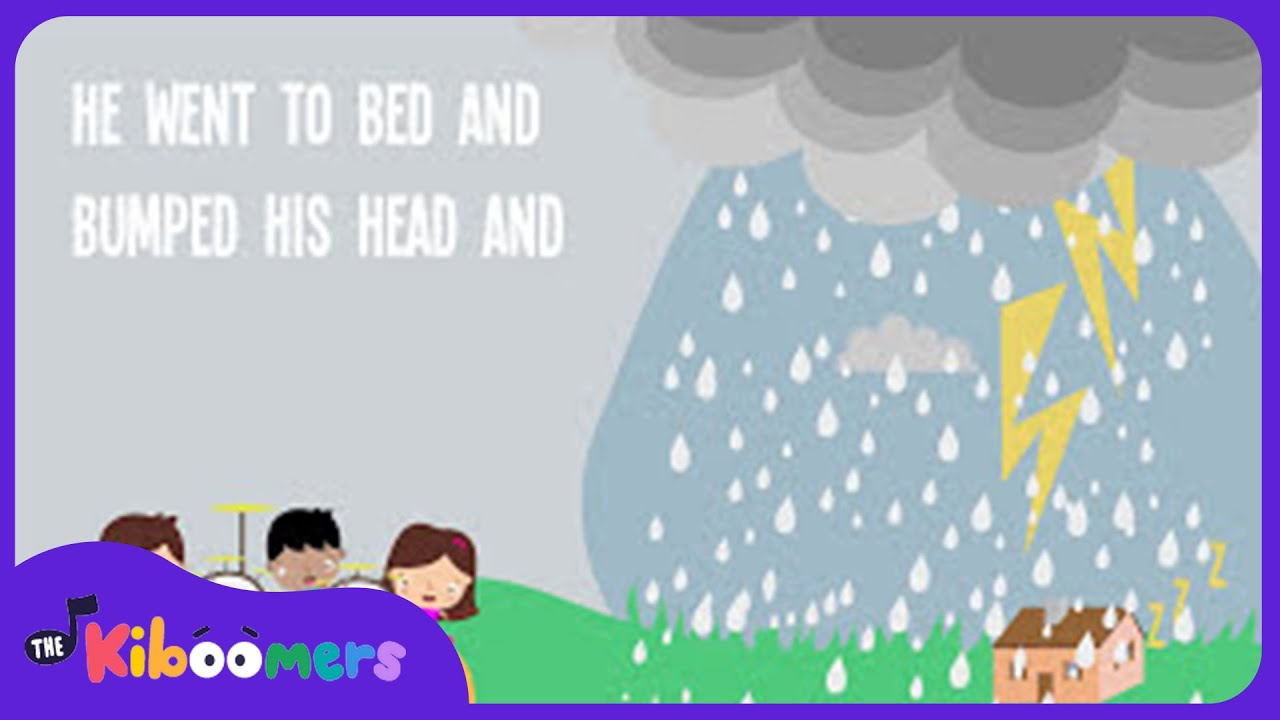 It's Raining It's Pouring Nursery Rhyme Lyrics | Preschool Kids Songs