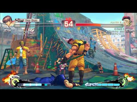 USF4 Online: FA|Big Bird (Guy) vs Nox2 (Rolento)