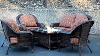 Naples Fire Pit Table With Balsam Wicker Patio Furniture Set With Livingoutfitters.com